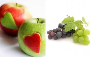 แอปเปิล + องุ่น