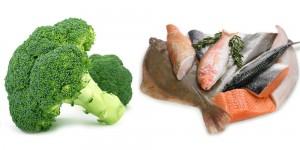 เนื้อปลา + บรอกโคลี