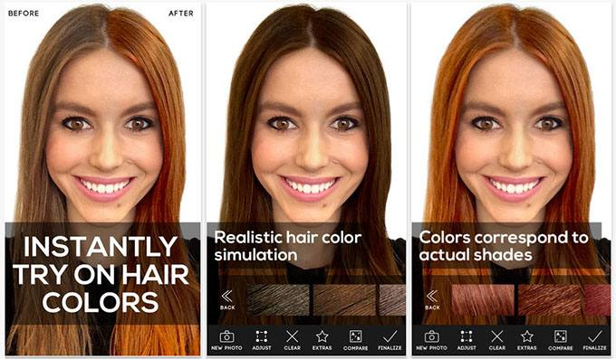 Hair-Romance-Modiface-hair-colour-hair-app