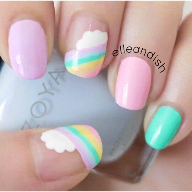 Rainbow-Pastel-Nails