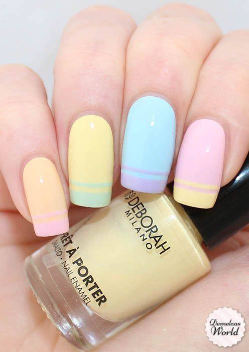 Striped-Pastel-Nails
